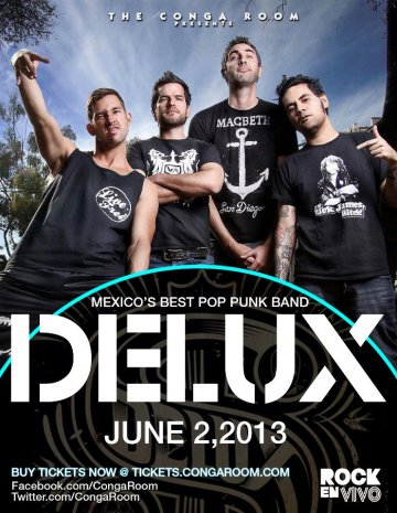 Delux En El Conga Room Los Angeles California - rock en espa�ol - rockeros.net