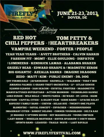 Firefly Music Festival Red Hot Chili Peppers Foster The People Dover - rock en espa�ol - rockeros.net