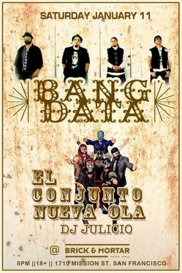 Bang Data Y El Conjunto Nueva Ola En El Brick And Mortar De San Francisco Ca - rock en espa�ol - rockeros.net