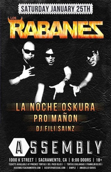Rabanes La Noche Oskura Pro Ma�on En Assembly De Sacramento California - rock en espa�ol - rockeros.net