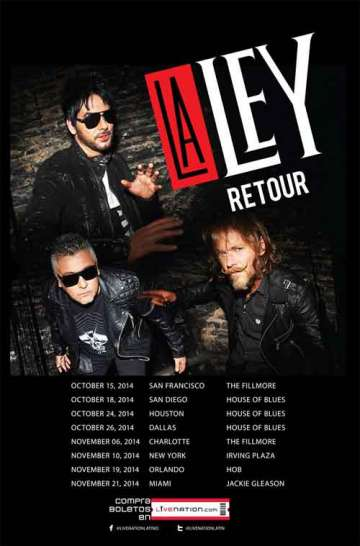 La Ley Retour Tour 2014 En El House Of Blues De Dallas Tx - rock en español - rockeros.net