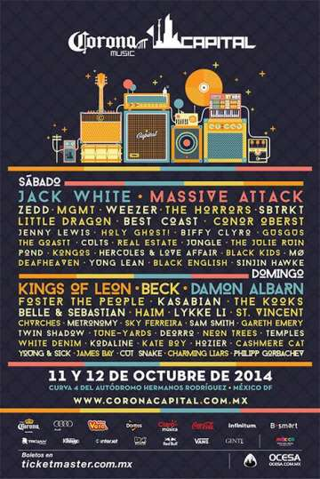 Corona Capital Jack White Massive Attack Zedd  Df - rock en español - rockeros.net