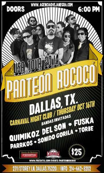 Panteon Rococo Usa Tour 2014 - rock en espa�ol - rockeros.net