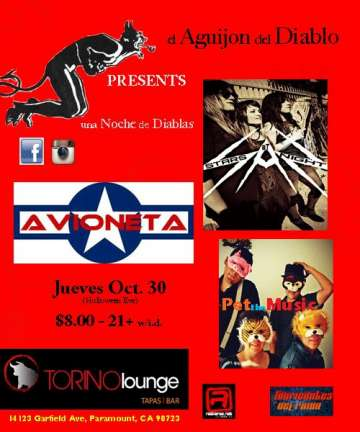 Avioneta Stars At Night Y Pet The Music En El Torino Lounge De Los Angeles Ca - rock en espa�ol - rockeros.net