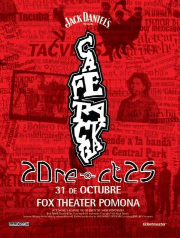 Cafe Tacvba 20re-ct25 Gira Us En El Fox Theatre De Pomona Ca - rock en espa�ol - rockeros.net