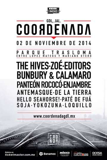 Coordenada The Hives Zoe Editors Bunbury Calamaro - rock en espa�ol - rockeros.net