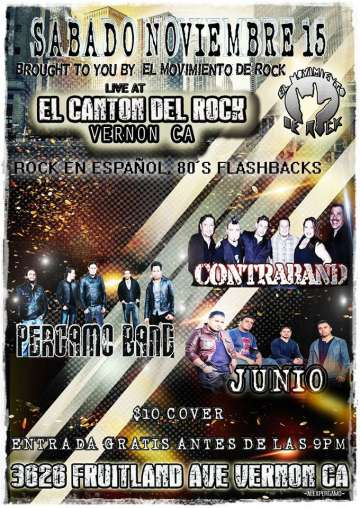 El Movimiento Del Rock Presenta Contraband-junio-pergamo Band - rock en espa�ol - rockeros.net