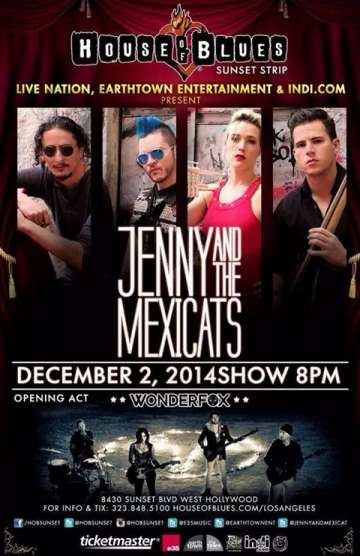 Jenny And The Mexicats En House Of Blues - rock en espa�ol - rockeros.net
