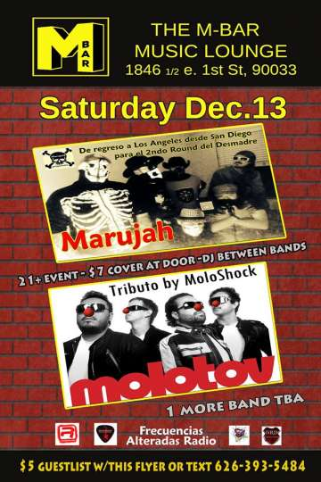 Marujah Y Moloshock En Vivo En The M Bar De Los Angeles - rock en espa�ol - rockeros.net