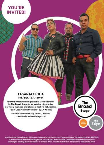 La Santa Cecilia En The Broad Stage De Santa Monica College - rock en espa�ol - rockeros.net
