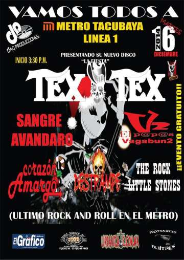 Ultimo Rock And Roll Del A�o En El Metro-tex Tex-sangre Avandaro - rock en espa�ol - rockeros.net