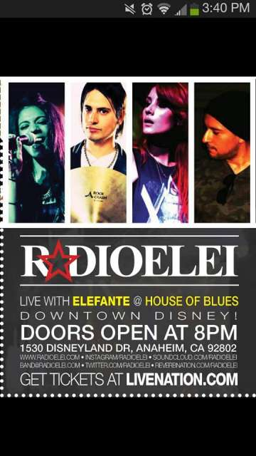 Elefante Y Radioelei En El House Of Blues De Anaheim Ca - rock en espa�ol - rockeros.net