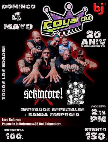 Festejando 20 A�os Royal Club- Sekta Core-8 Kalacas - rock en espa�ol - rockeros.net