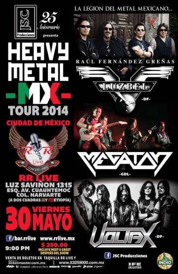 Heavy Metal Mx Tour 2014 Luzbel - rock en espa�ol - rockeros.net