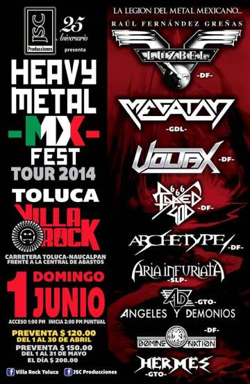 Heavy Metal Mx Fest Tour 2014 Toluca Luzbel - rock en español - rockeros.net