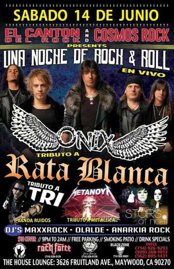 Una Noche De Rock And Roll Con Onix- Banda Ruidos - rock en espa�ol - rockeros.net