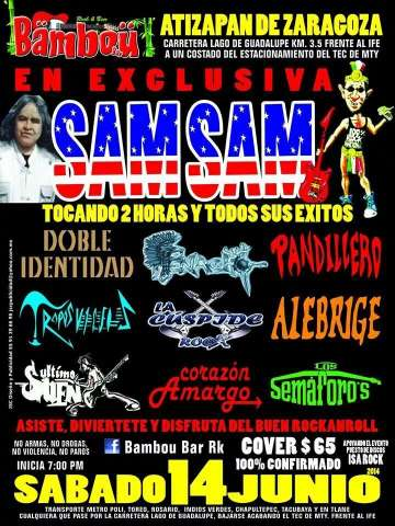 Sam Sam En Exclusiva - rock en espa�ol - rockeros.net