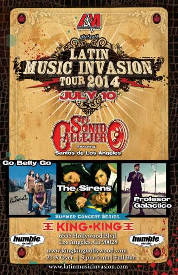Latin Music Invasion Tour 2014 The Sirens-sonido Callejero-go Betty Go - rock en espa�ol - rockeros.net