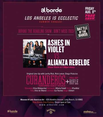 Los Angeles Is Eclectic Summer Concert Con Curanderos -alianza Rebelde - rock en espa�ol - rockeros.net
