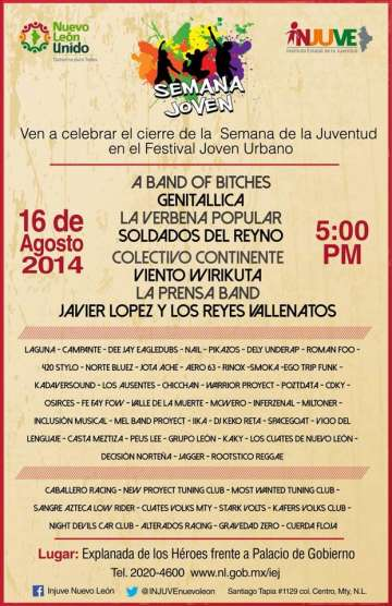 Semana Joven A Band Of Bitches Genitallica La Verbena Popular Nuevo Leon - rock en espa�ol - rockeros.net