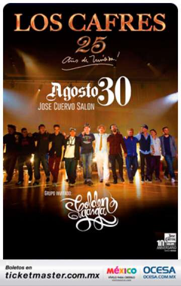 Jose Cuervo Salon Los Cafres Golden Ganga - rock en espa�ol - rockeros.net