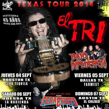 Texas Tour 2014 El Tri - rock en espa�ol - rockeros.net