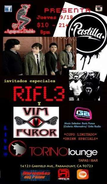 Pastilla Y Rifle En El Torino Lounge De Los Angeles California - rock en espa�ol - rockeros.net