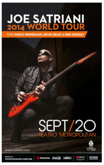 Joe Satriani 2014 World Tour - rock en espa�ol - rockeros.net