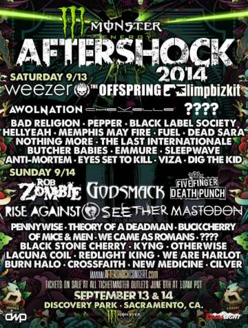 Monster Energy Aftershock Festival En  Sacramento - rock en espa�ol - rockeros.net