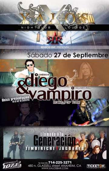 Rock And Pop Tour Con El Vampiro Y Diego - rock en espa�ol - rockeros.net