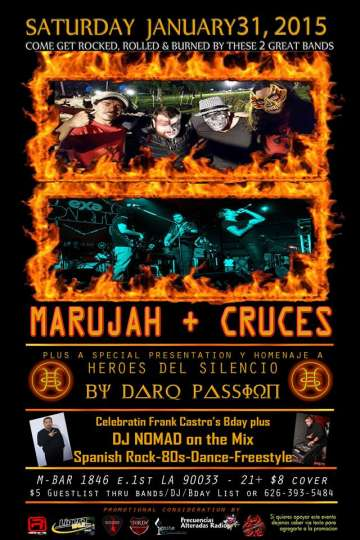 Marujah-cruces Y Darq Passion En El M Bar - rock en espa�ol - rockeros.net