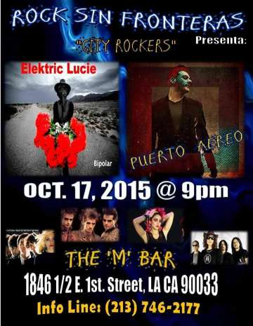 City Rockers Elektric Lucie Puerto Aereo En The M Bar De Los Angeles - rock en espa�ol - rockeros.net