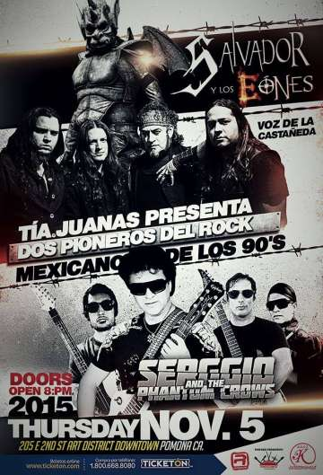 2 Pioneros Del Rock Mexicano Segio And The Phantom Crows Y Salvador Y Los Eones - rock en espa�ol - rockeros.net