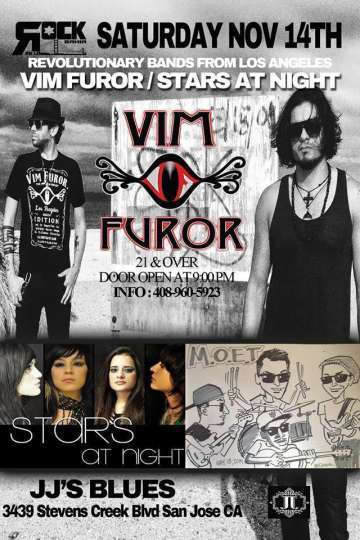 Vim Furor Y Stars At Night En Jjs Blues De San Jose - rock en espa�ol - rockeros.net