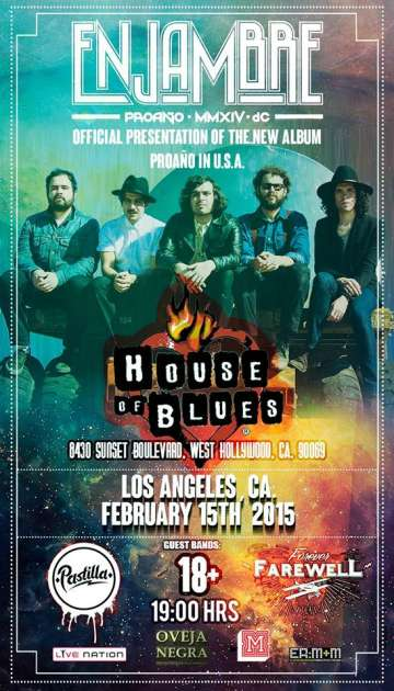 Enjambre Pro A�o Tour En El House Of Blues Hollywood - rock en espa�ol - rockeros.net