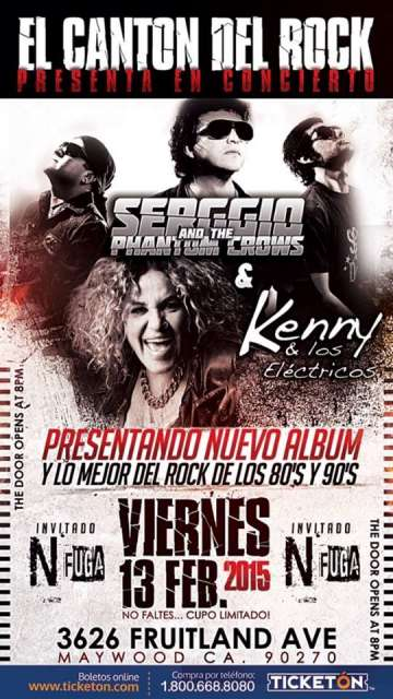 Kenny Y Los Electricos Y Sergio And The Phantom Crows En El Canton Del Rock - rock en espa�ol - rockeros.net