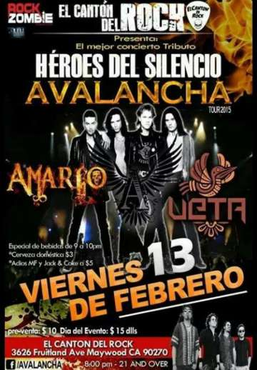 Avalancha Tour 2015 - rock en espa�ol - rockeros.net