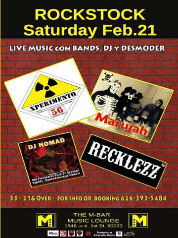 Rockstock Xperimento 56 Marujah Reckless En The M Bar De Los Angeles Ca - rock en espa�ol - rockeros.net