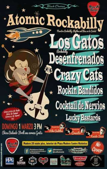 Atomic Rockabilly Los Gatos-desenfrenados - rock en espa�ol - rockeros.net
