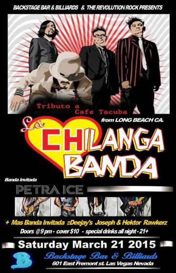 La Chilanga Banda Y Petra Ice En Backstage Bar And Billiards De Las Vegas Nv - rock en espa�ol - rockeros.net