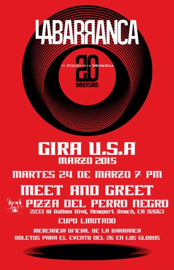 Meet And Greet Con La Barranca En Pizza Perro Negro De Newport Beach Ca - rock en espa�ol - rockeros.net