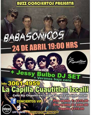 Secret Show  Babasonicos-los Romanticos De Zacatecas-jessy Bulbo - rock en español - rockeros.net