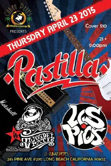 Pastilla- Los Pios Y Los Hijos Del V Patio En Cuban Petes De Long Beach - rock en español - rockeros.net