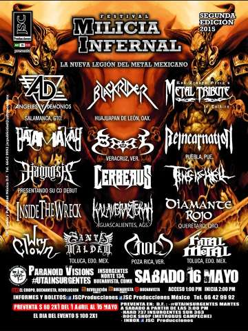 Festival Milicia Infernal Angeles Y Demonios Blackrider Mexico Df - rock en espa�ol - rockeros.net