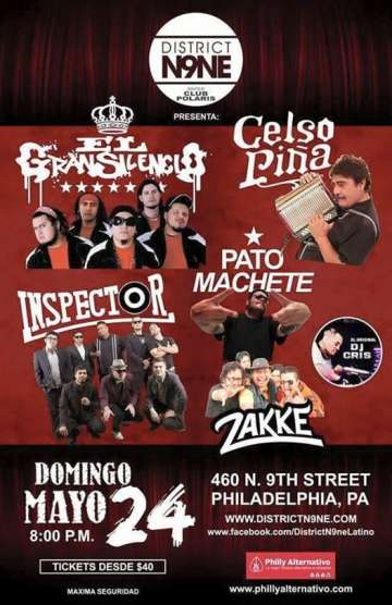 El Gran Silencio Celso Pina Inspector Pato Machete District N9ne Philadelphia - rock en espa�ol - rockeros.net
