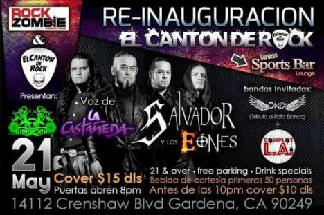 Re-inauguration De  El Canton Del Rock Salvador Y Los Eones - rock en espa�ol - rockeros.net
