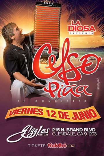 Celso Pi�a En El Giggles Night Club De Glendale California - rock en espa�ol - rockeros.net