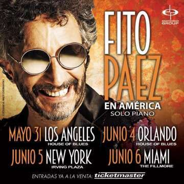 Fito Paez En America Tour 2015 En El House Of Blues De Orlando Florida - rock en espa�ol - rockeros.net