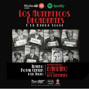Los Autenticos Decadentes Y La Banda Sigue - rock en espa�ol - rockeros.net