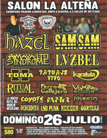 Rock En El Salon La Alte�a Con Hazel-sam Sam-amaya Ltd Sindrome - rock en espa�ol - rockeros.net